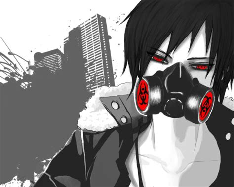 anime guy gas mask tumblr