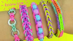 Rainbow Loom! DIY 5 Easy Rainbow Loom Bracelets without a
