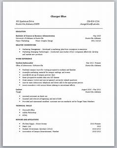 Resume Sample For College Students With No Experience Resume For Students With No Experience Task List Templates