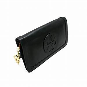 Tory Burch Black Leather Suki Reva Clutch/ Shoulder Bag ...