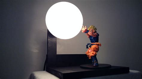 Two Bulb Table Lamp by Custom Dragon Ball Z Lamp With Light Up Spirit Bomb Is