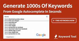 Long Tail Keyword Tool  U1408 Get Keywords  Easy   U0026 Use For Seo