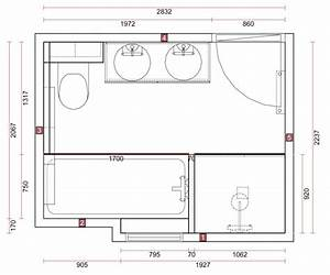 Plan Salle De Bain 7m2 : plan salle de bain con idee douche et baignoire und galerie et plan salle de bain 7m2 des photos ~ Dode.kayakingforconservation.com Idées de Décoration