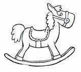 Horse Rocking Sketch Coloring Pages Paintingvalley Sketches Explore sketch template
