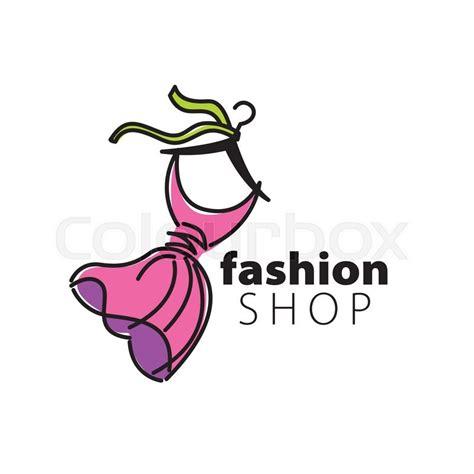 vector logo clothing illustration dress on a hanger stock vector colourbox