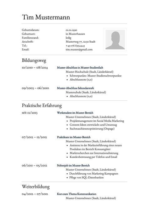 Lebenslauf Vorlage by Lebenslauf Muster F 252 R Assistent Lebenslauf Designs