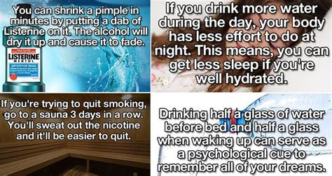 life hacks   improve  health