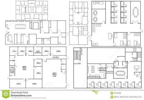 floor plans vector office floor plan stock vector image 70184486