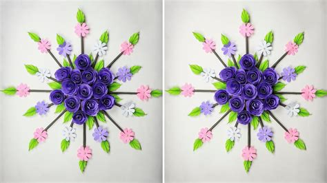 Easy way of making flower out of wool. Paper Flower Wall Hanging: DIY Hanging Flower | Wall ...