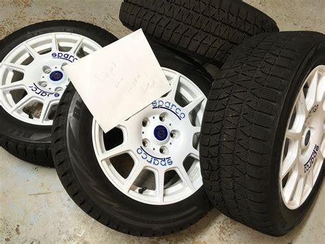 sparco terra wheels  blizzak ws tires honda tech