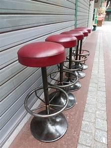 Tabouret De Bar Cuir : tabouret de bar m tal et cuir madebymed fauteuil club ~ Dailycaller-alerts.com Idées de Décoration