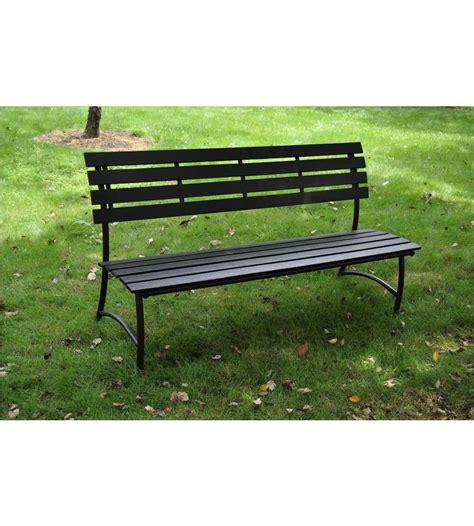 panchina per esterno panchina da giardino grigia antracite in wpc 125x56x76 cm