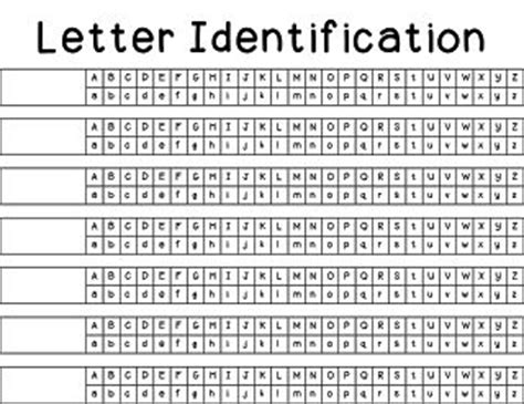 Free Data Sheets For Letter And Sound Identification  Assessments  Pinterest Letter