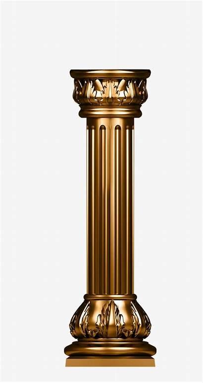 Pillar Column Clipart Transparent Gold Background Banner