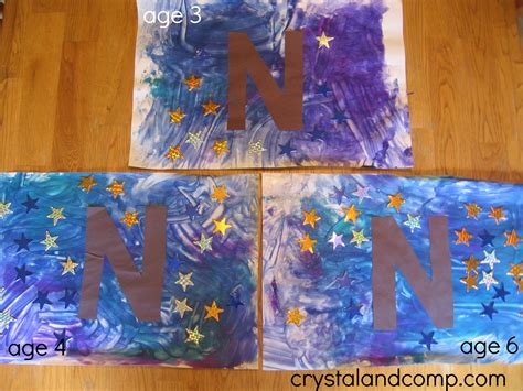 alphabet activities for preschoolers letter of the week n 649 | N is for Night 7 crystal and comp