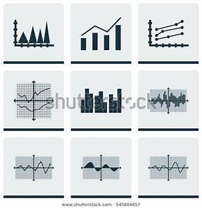 Set Graphs Diagrams Statistics Icons Premium Stock
