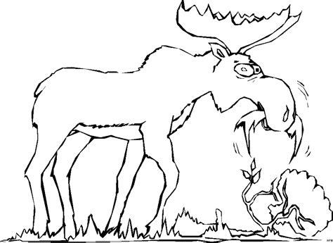elch  fressen ausmalbild malvorlage comics