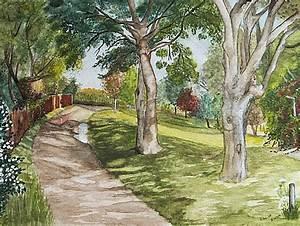 Bilder Bäume Gemalt : vorm gartentor 2 garten gartentor wiese baum von renate prause bei kunstnet ~ Orissabook.com Haus und Dekorationen