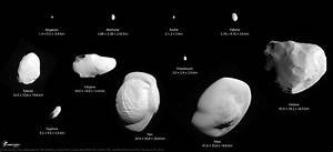 Saturn's small satellites, to scale | The Planetary Society