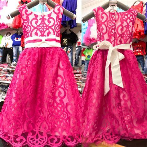 jual anak pink gaun pesta anak pink baju anak perempuan kostum elsa frozen di