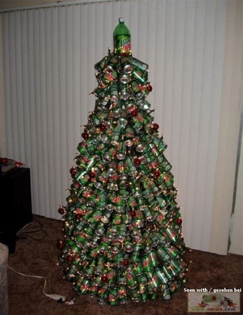 mountain dew soda can christmas tree