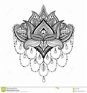 Henna Mehndi Paisley Tattoo Doodle Design Stock Photos
