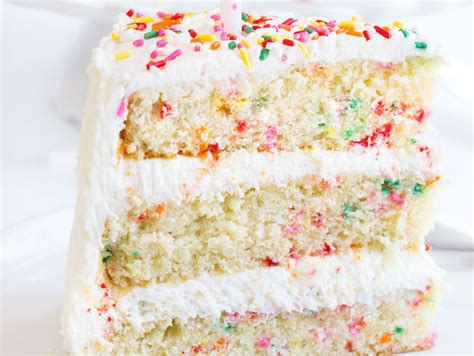 Funfetti Cake  No Box Needed