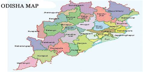 odisha map representational pic