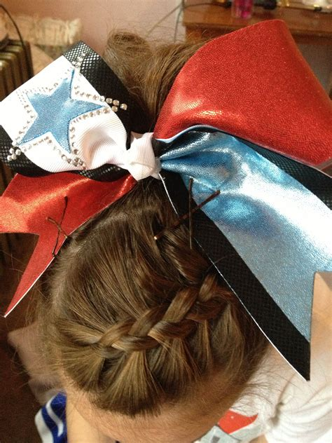 dutch braid into ponytail for school cheer all things