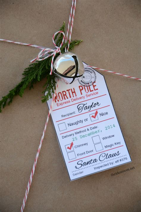 santa gift tag printables  idea room
