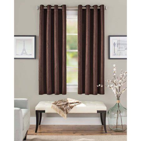 Walmart Drapes And Curtains - better homes and gardens crushed room darkening curtain