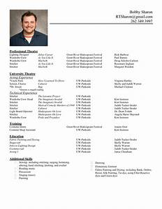 the standard resume format for a winning applicant With cv format