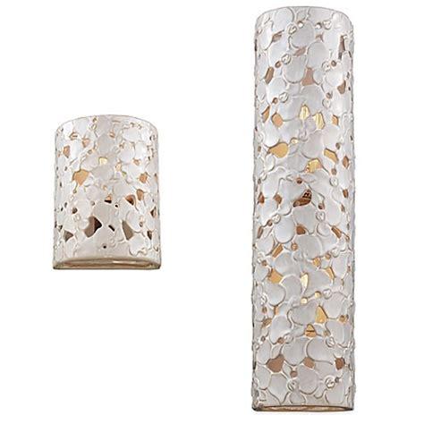 Ceramic Wall Sconces - feiss azalia white taupe ceramic wood wall sconce