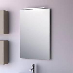 miroir salle de bain 50x80 cm horizontal ou vertical firenze With miroir ventouse salle bain
