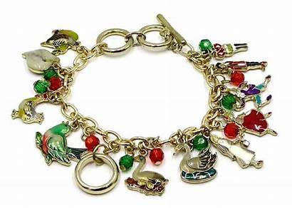 Bracelet Christmas Days Gold Twelve Charm