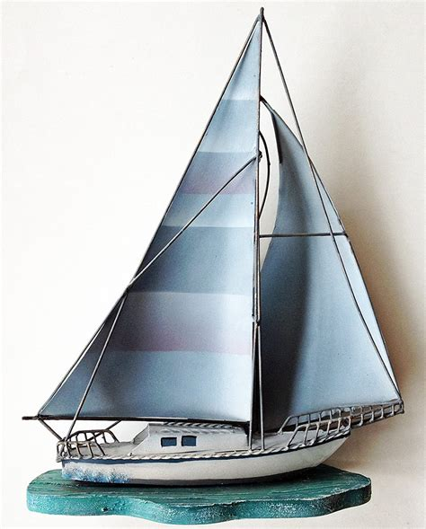 C $9.36 to c $22.63. Nautical Sailboats : Metal and Wooden Wall Sculpture
