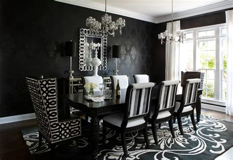 black and white dining chairs upholstered dining room