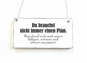 Schilder Mit Sprüchen : kein plan dekoschild t rschild shabby chic vintage von ~ Michelbontemps.com Haus und Dekorationen