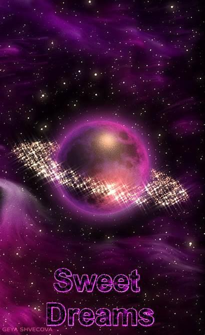 Dreams Sweet Night Glittery Galaxy Nighty Gifs