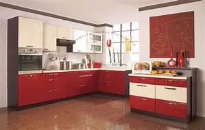 cuisine rouge et blanc pas cher sur cuisinelareduccom With cuisine rouge et blanc photos