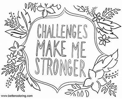 Mindset Coloring Growth Pages Quotes Challenges Printable