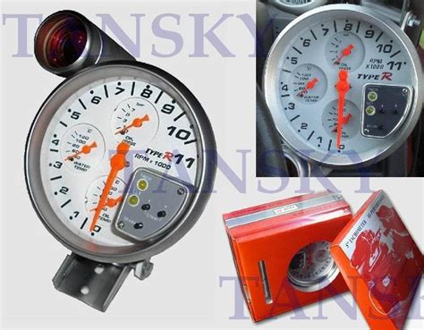 Type 5 White 4in1 Tachometer Gauge Auto Gauge Auto