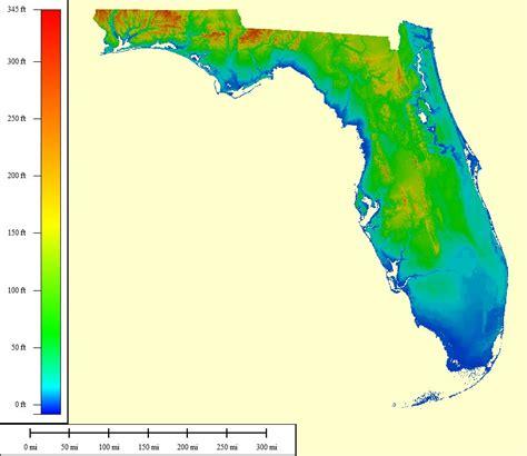 florida elevation map afputra com