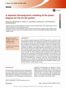 A Stepwise Thermodynamic Modeling Of The Phase Diagram For