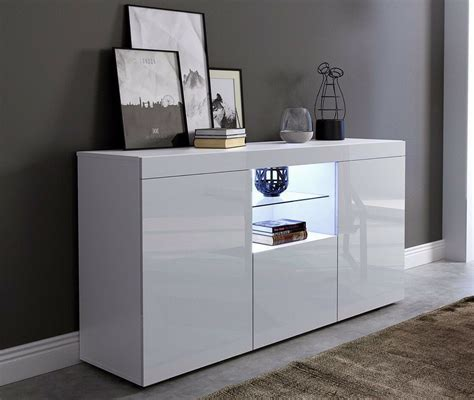White Sideboard Furniture by White Gloss Doors White Matt Cabinet Cupboard Display