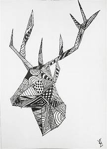 Abstract Patterned Stag by TheHearica on DeviantArt