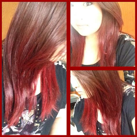 I Dyed The Bottom Half Of My Hair Red