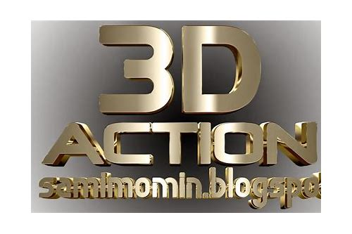 photoshop 3d actions download