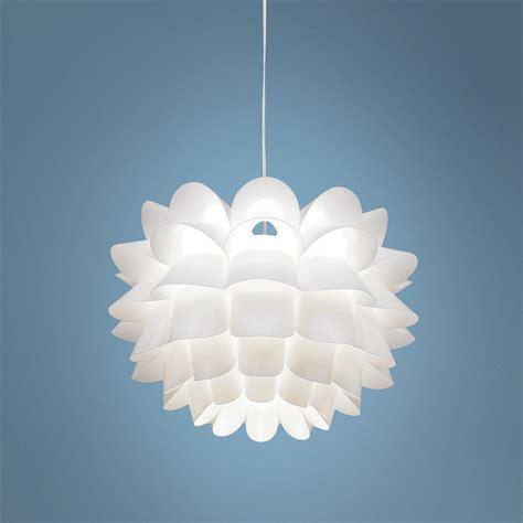 white plastic chandelier possini white flower 19 1 2 quot wide pendant chandelier