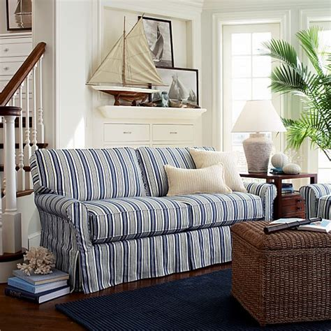 Striped Sofas Living Room Furniture by Blue And White Striped Sofa Blue And White Striped Sofa